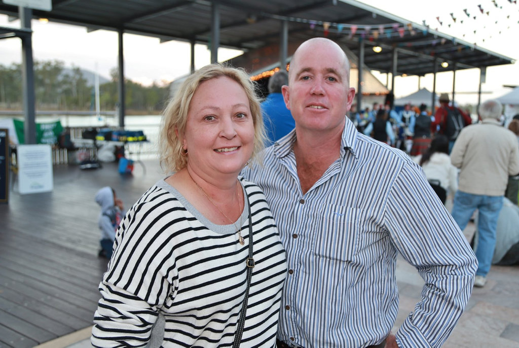 Image for sale: L-R Glenda Lawless-Pyne and Phil Lawless-Pyne at the Cultural Festival.