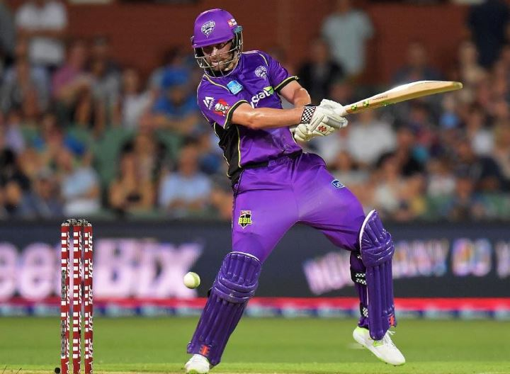 Alex Doolan playing for the Hobart Hurricanes in the Big Bash League match against Adelaide Strikers. Picture: Daniel Kalisz/Getty Images