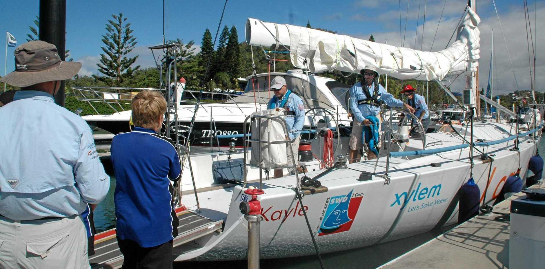Sailors with disABILITIES Winds of Joy yacht, Kayle.