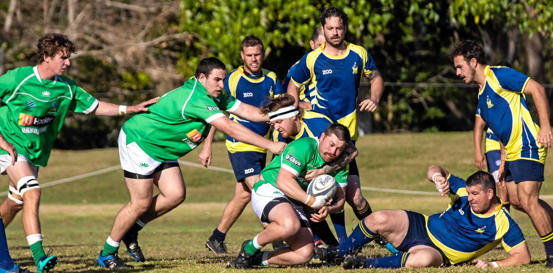 Lennox Head flanker Sean Watkins was one of the Trojans best against Casuarina in the FNC rugby minor semi-final.
