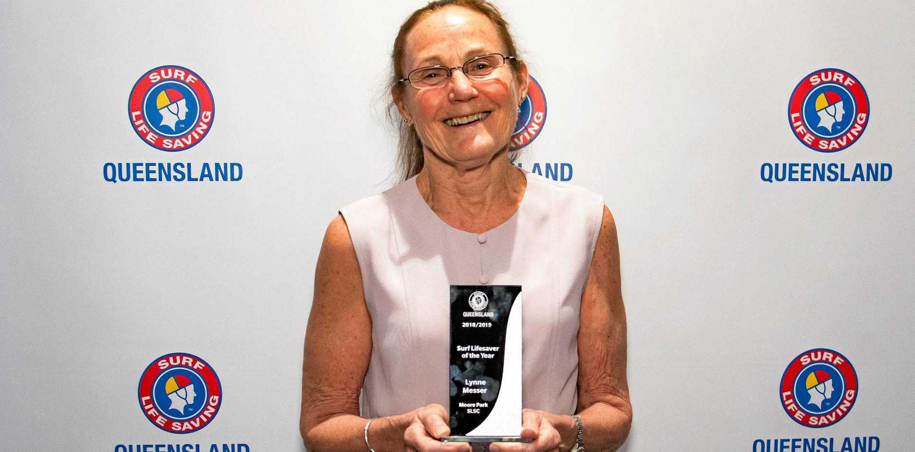 HONOURED: Lynne Messer won the Lifesaver of the Year award.