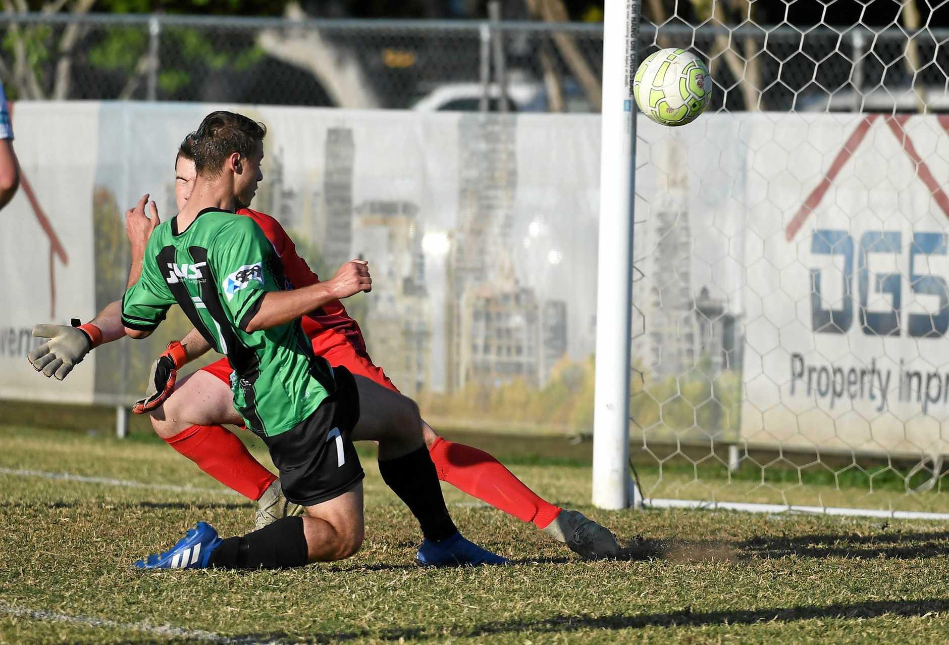Mathew Drummond scored for Knights in their QPL under-20 grand final against Sunshine Coast.