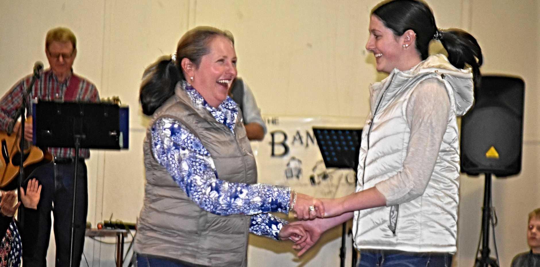 Mother daughter dance duo Belinda and Madeline Waldock.