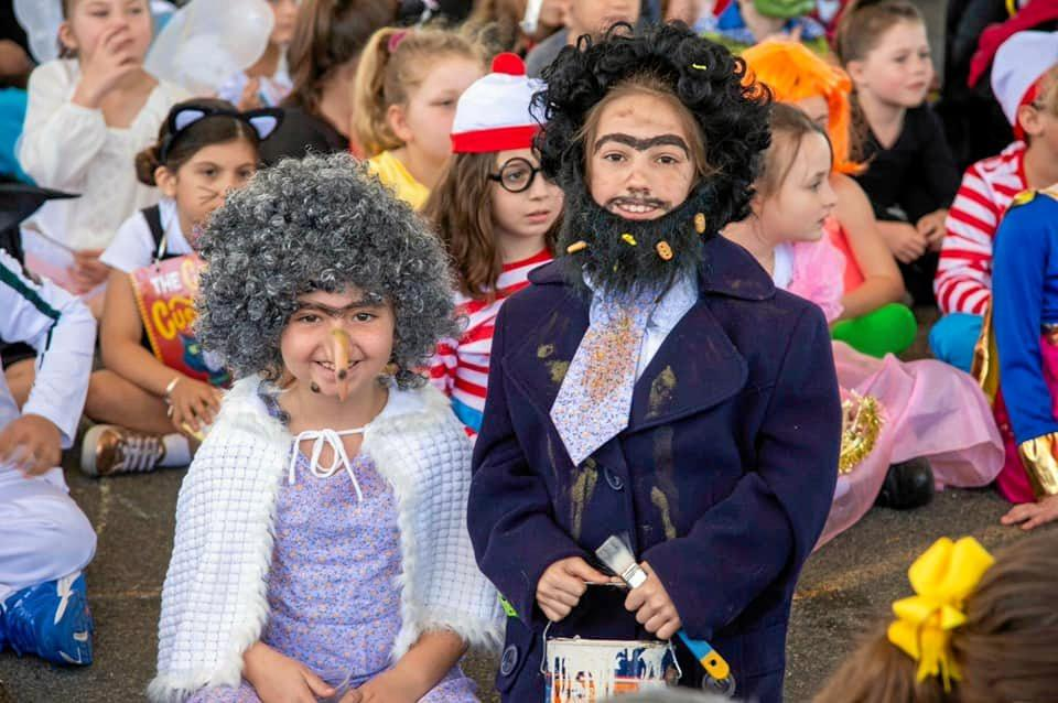 Erin Cureton and Paytton Thompson as Mr and Mrs Twit. Erin's favourite book is Muddy Paws.