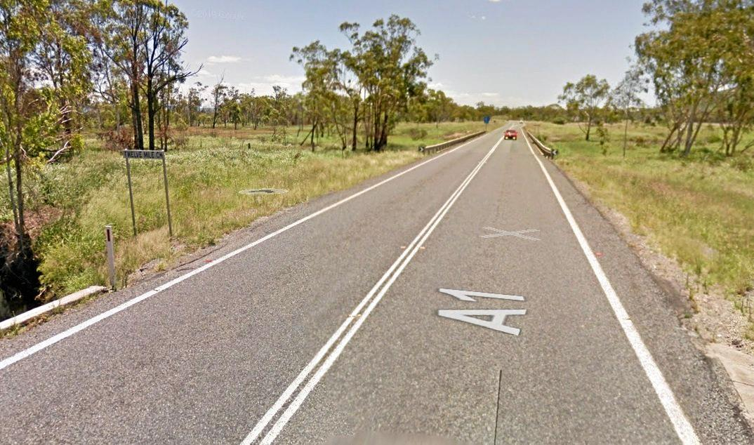CRASH SCENE: Two vehicles have collided on a bridge on the Bruce Highway south of Marmor.