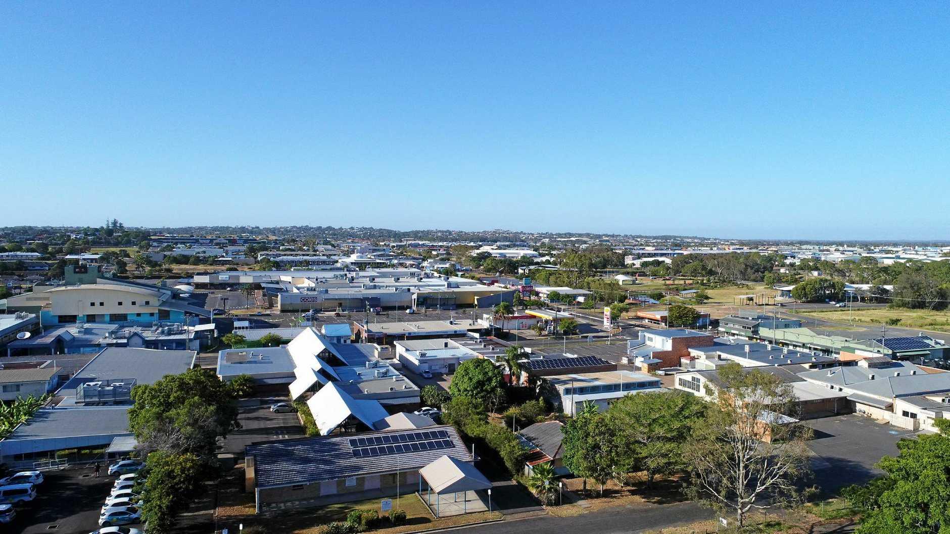 Aerial views of Hervey Bay.