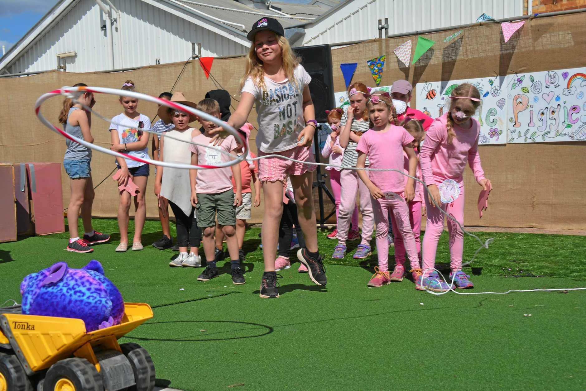 FESTIVAL FUN: Sophie Vogelaar at the BaconFest Olympics.