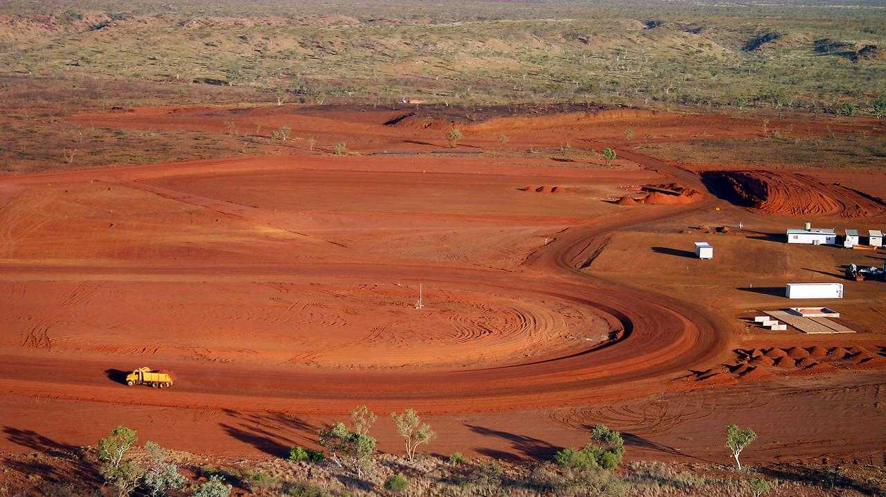 The Bootu Creek Mine in the Northern Territory where a man has been buried under dirt and rock.