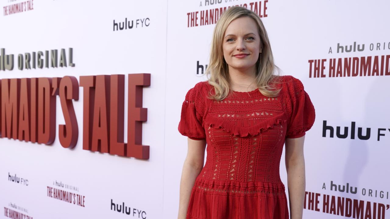 Elisabeth Moss says there are parallels between her characters in The Handmaid's Tale and new thriller The Kitchen Picture: Erik Voake/Getty Images for Hulu