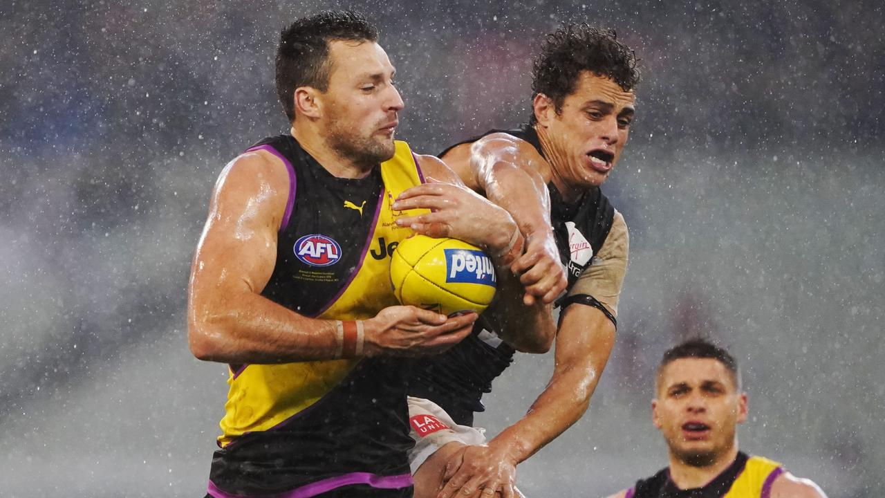 Toby Nankervis will push his selection case in the VFL. Picture: AAP Image/Michael Dodge.