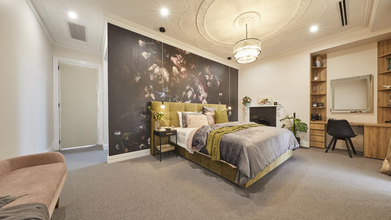 Matt and Elise nailed the colours of their master bedroom, according to the judges. Picture: The Block