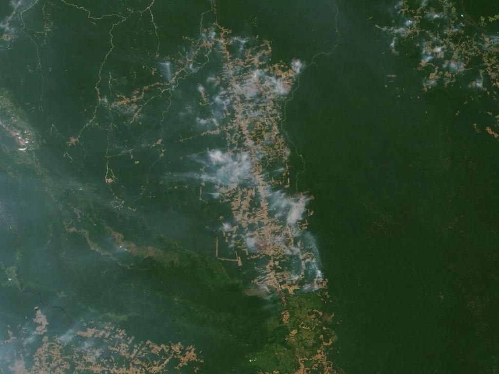 NASA has taken photos of the fire to show scale