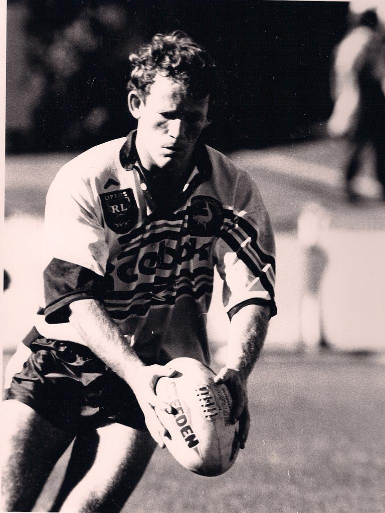 Paul Fisher in his rugby league days.