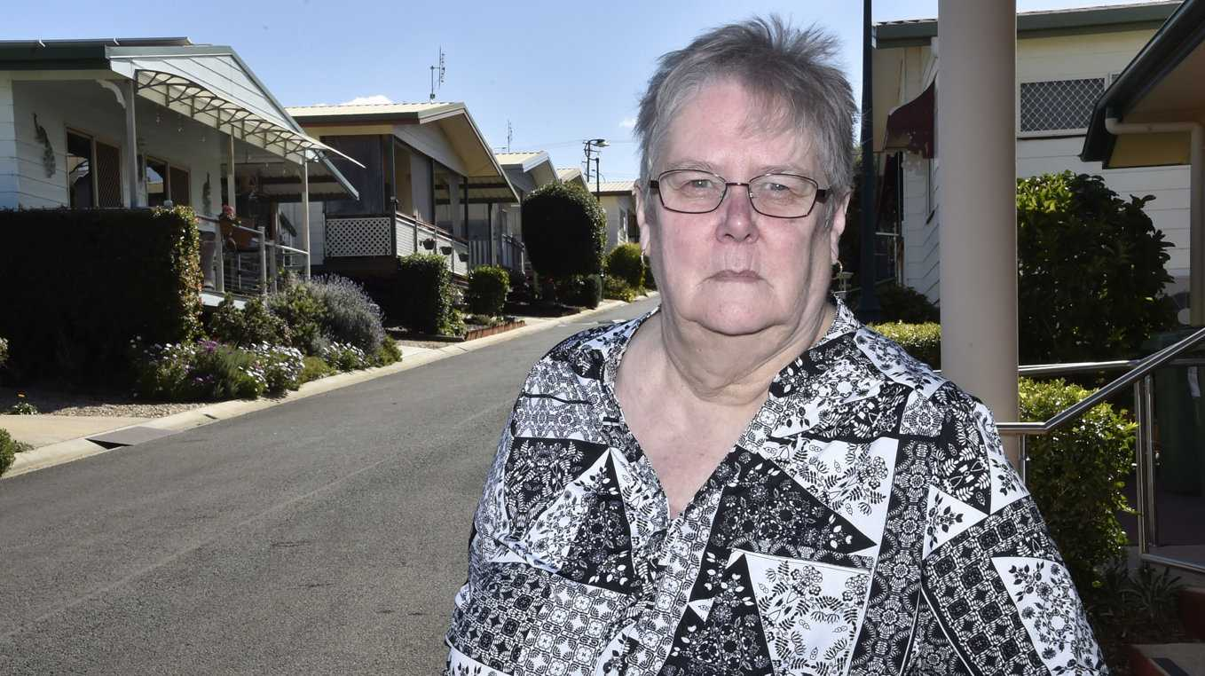 Val Hockings is a resident of a retirement village nd speaking on behalf of other residents is angry at overcharging by AGL. August 2019