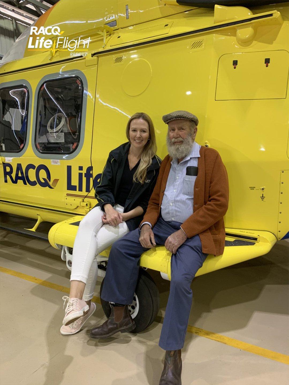 LifeFlight Fundraising Coordinator Amy Luhrs and Mick Bradford
