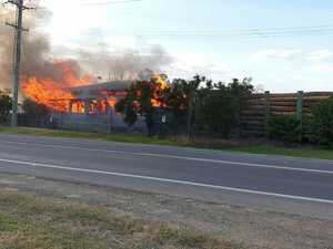 Four teens arrested over fire at sawmill site