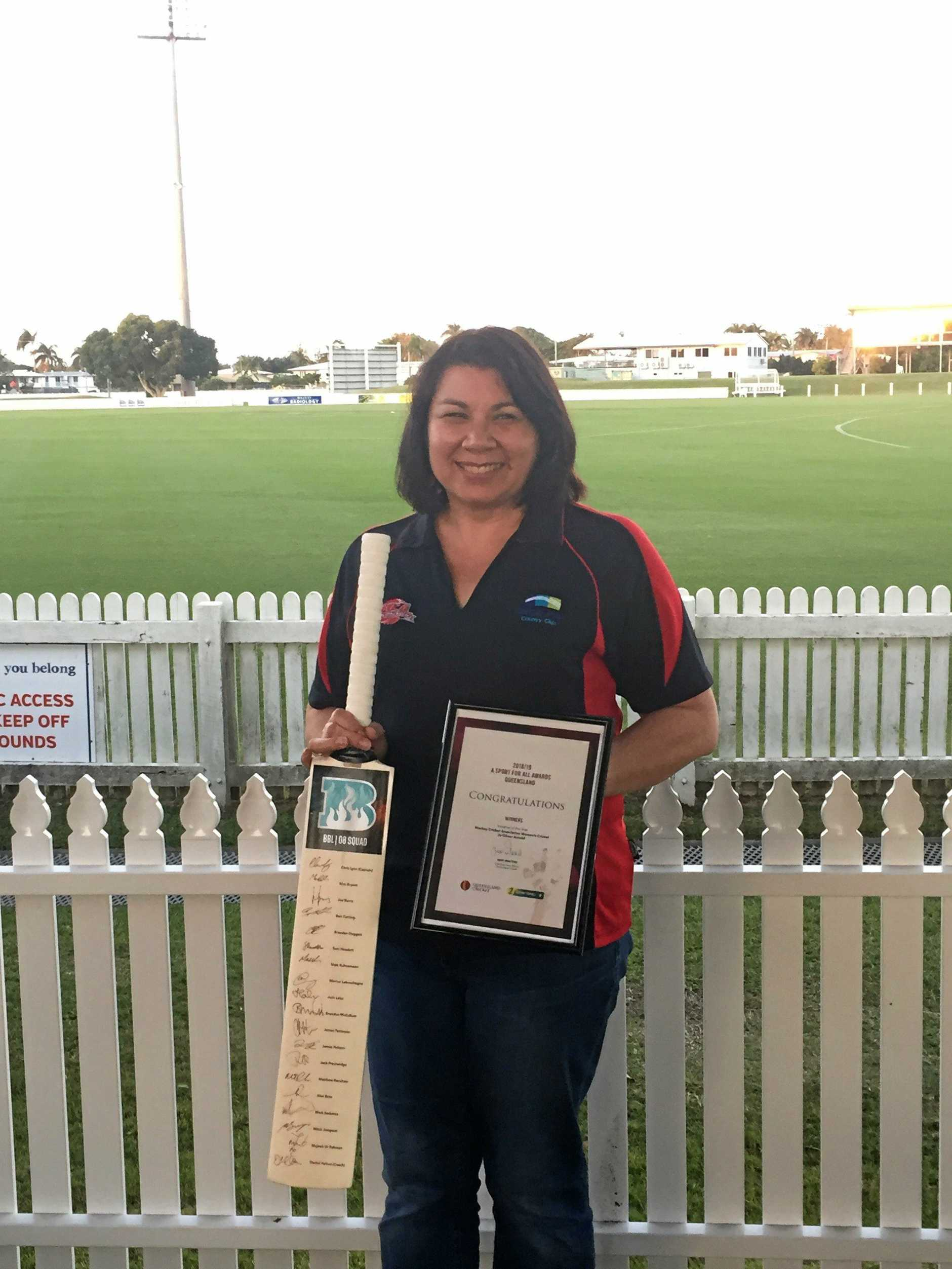 Jo Oliver Arnold was the Queensland Winner of the Initiative of the Year award for her involvement with Mackay Cricket Association Women's Cricket.