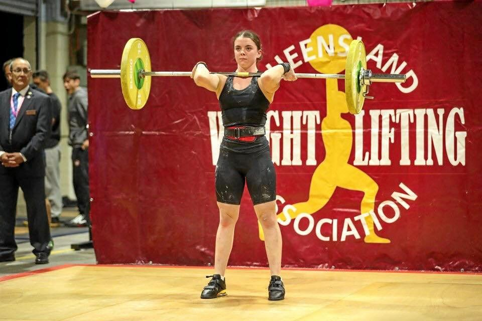 YOUNG GUN: Ailish Rice is proving a powerhouse in weightlifting.