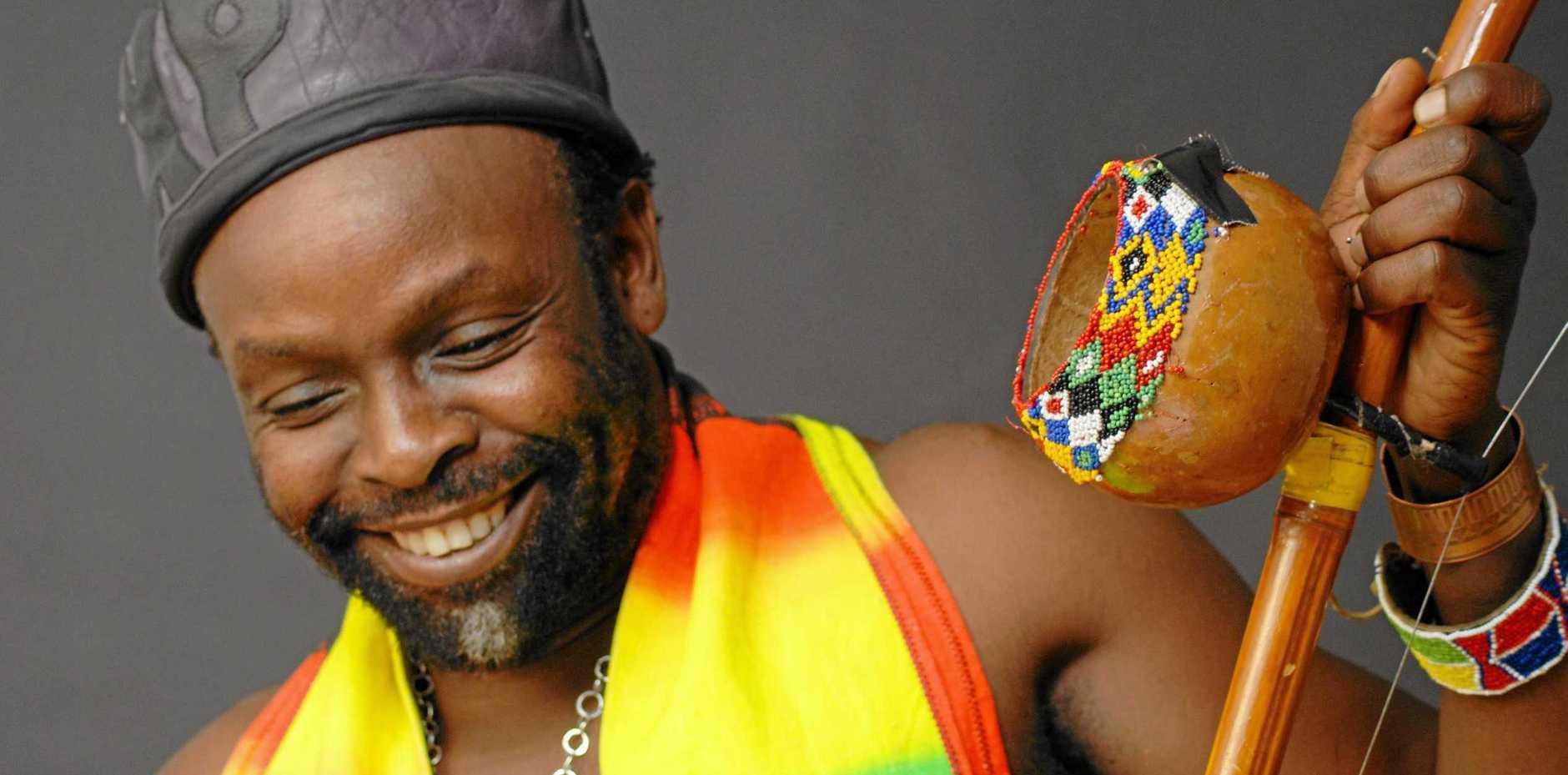 Byron Bay resident, Mozambique-born artist Kobya Panguana.