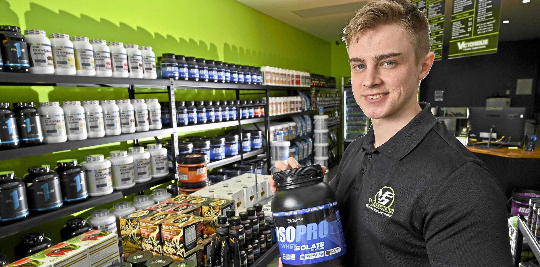 Kaine Treadwell of Victorious Supplements Redbank Plains.