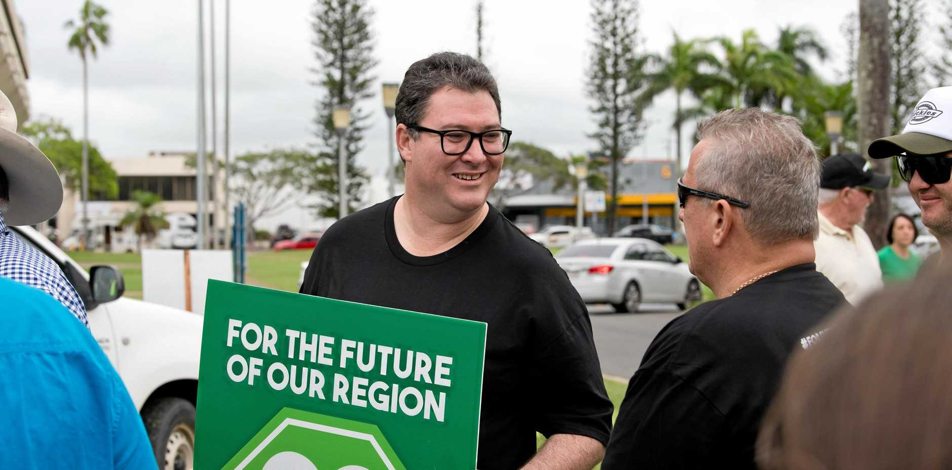 George Christensen at a pro-coal event in Mackay.