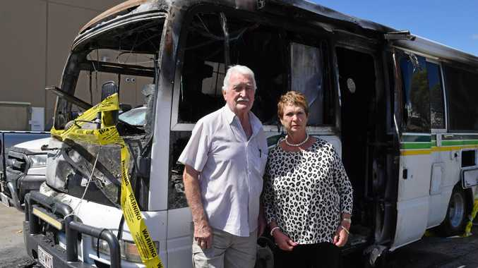 'It happened in seconds': Fire destroys campervan in carpark