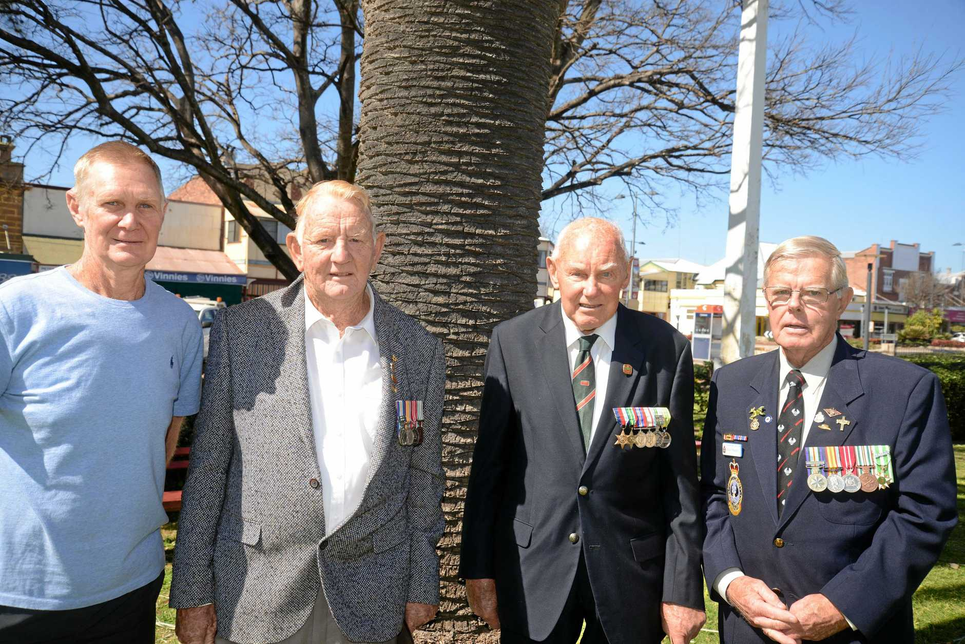 Arthur Campbell,  Brian Miller, Rex Baguley and Eddie Marshall at the Vietnam Veterans Day Remembrance Ceremony.