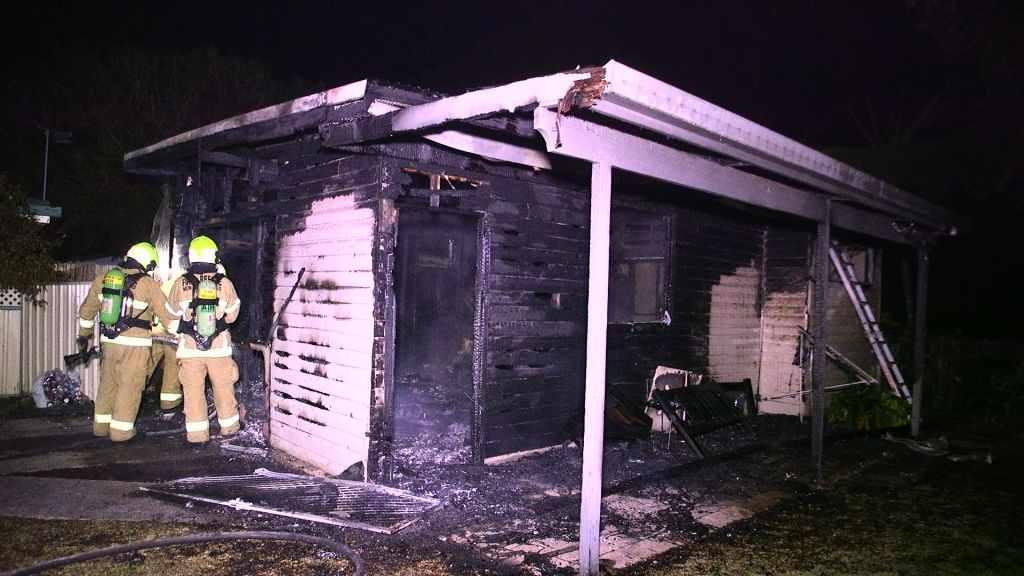 Two granny flats in Gundagai Street go up in flames in two days.