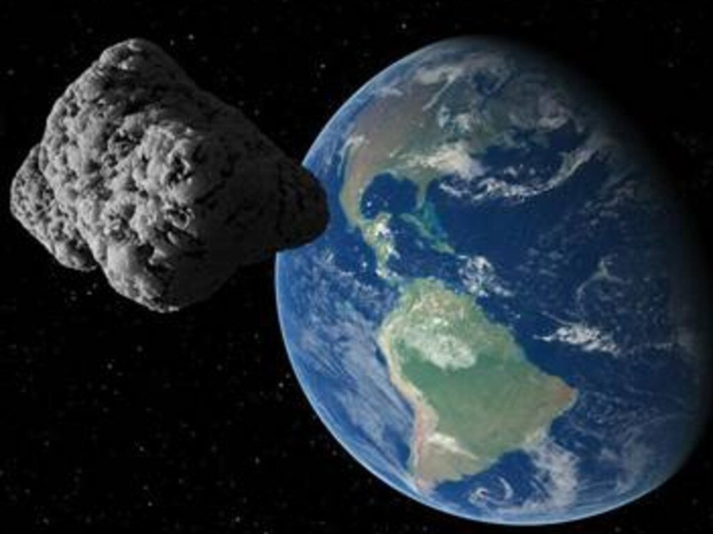 The asteroid 2000 QW7 will whiz past our planet at 23,100km/h on September 14, experts say. Picture: Supplied