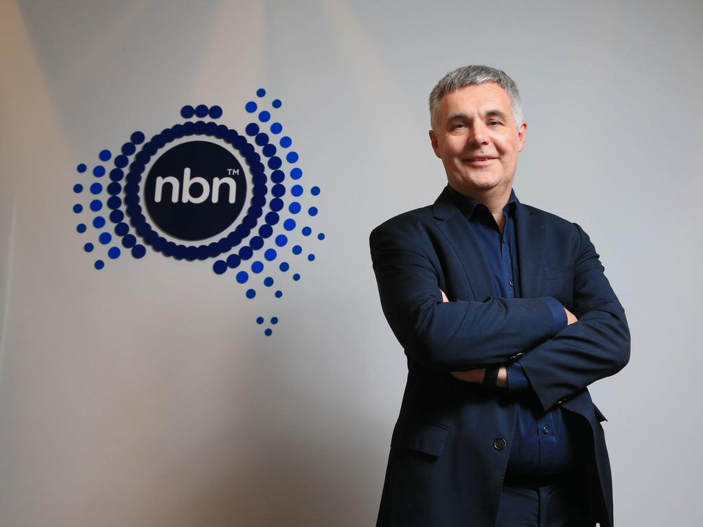 "NBN CEO Stephen Rue last month promised the project was ""on schedule"". Picture: Aaron Francis"