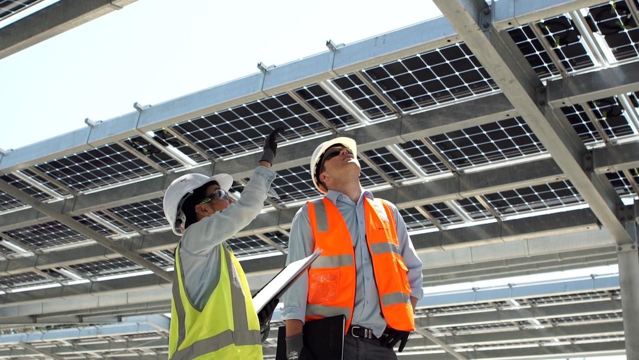 The Sunshine Plaza now boast's Australia's biggest installation of bifacial solar panels, designed and built by Autonomous Energy. Photo: Contributed