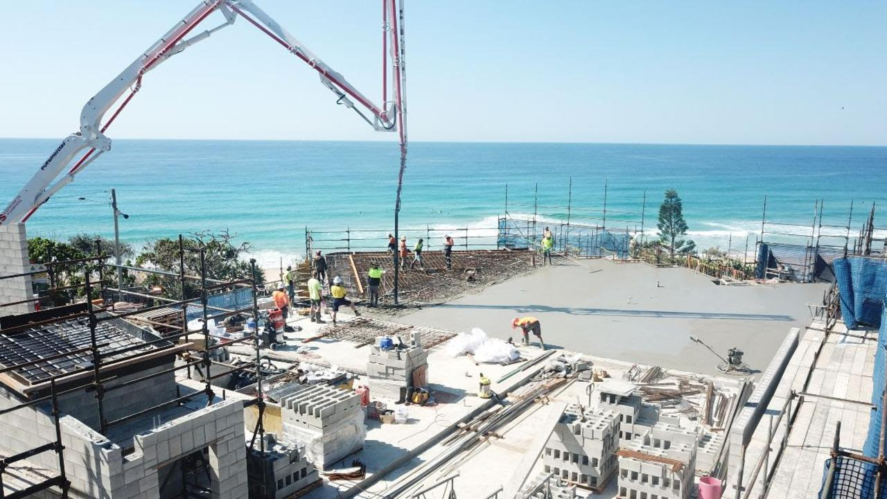 BORN AGAIN: The new Sunshine Beach Surf Club building rises from the old.