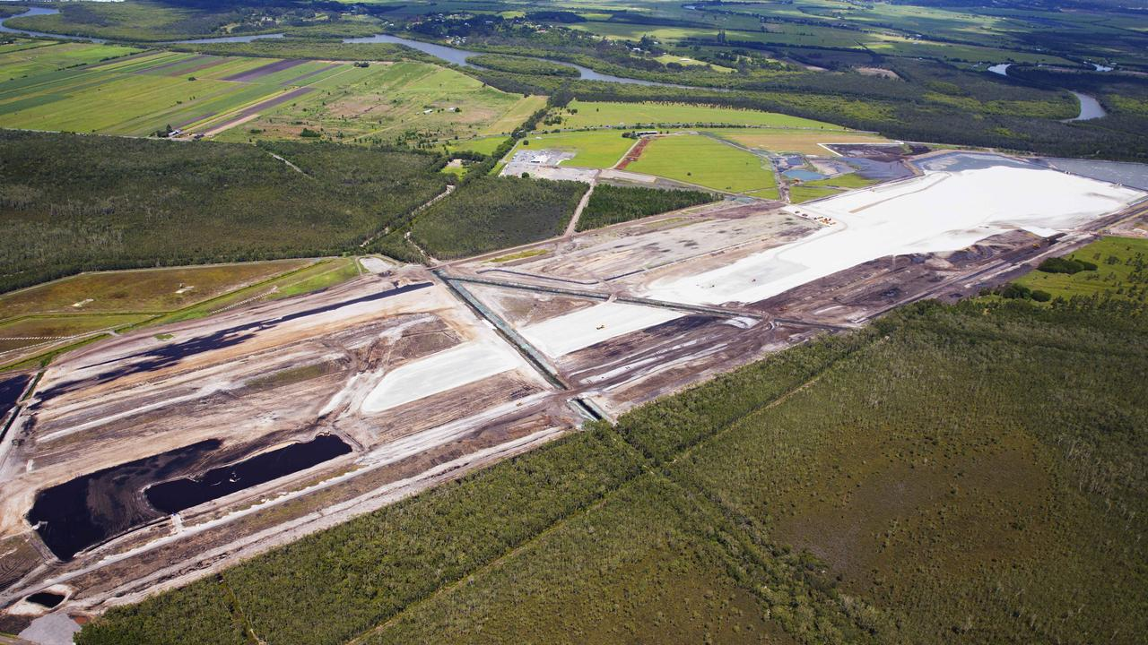 Aerial view over construction of the East -West Runway at the Sunshine Coast Airport. Photo Lachie Millard
