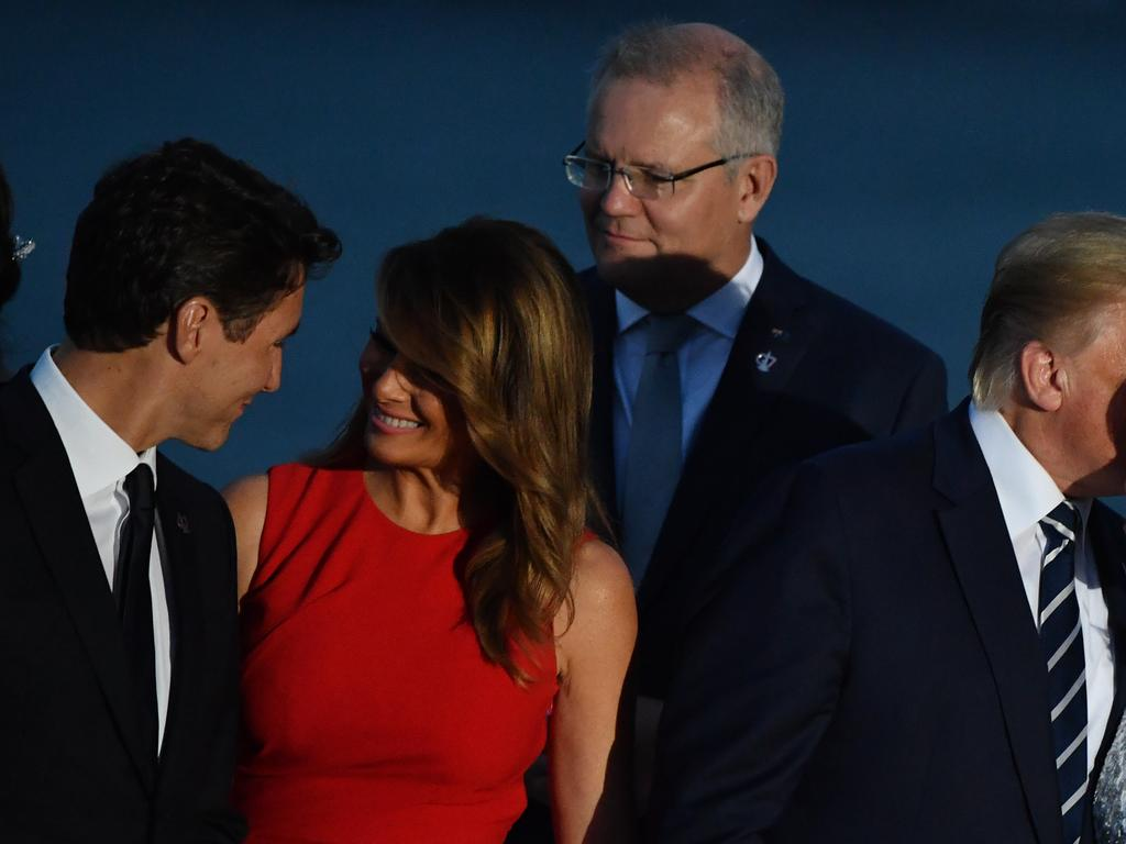 Canada's Prime Minister Justin Trudeau shares and exchange with Melania Trump that has gone viral. Picture: AAP Image/Mick Tsikas