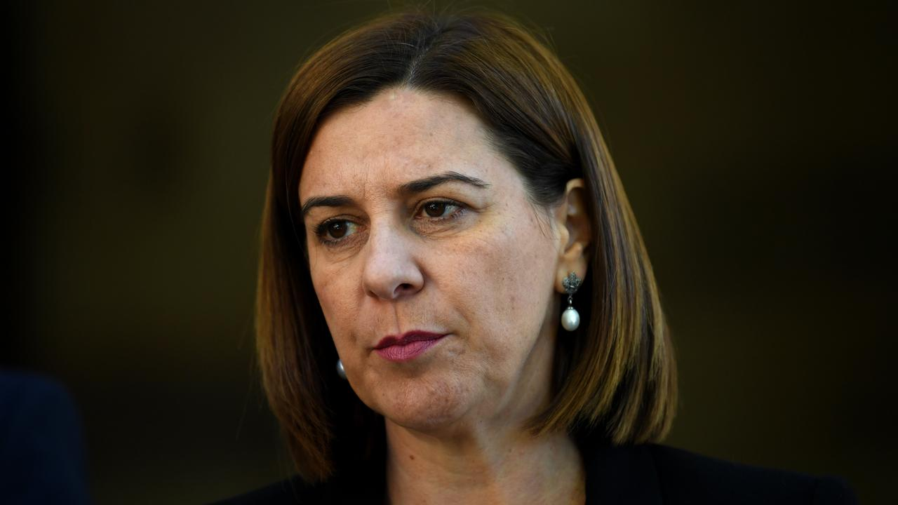 Deb Frecklington runs the risk of losing the unlosable election. Picture: AAP/Dan Peled