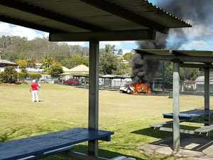 Car crashes in to school playground