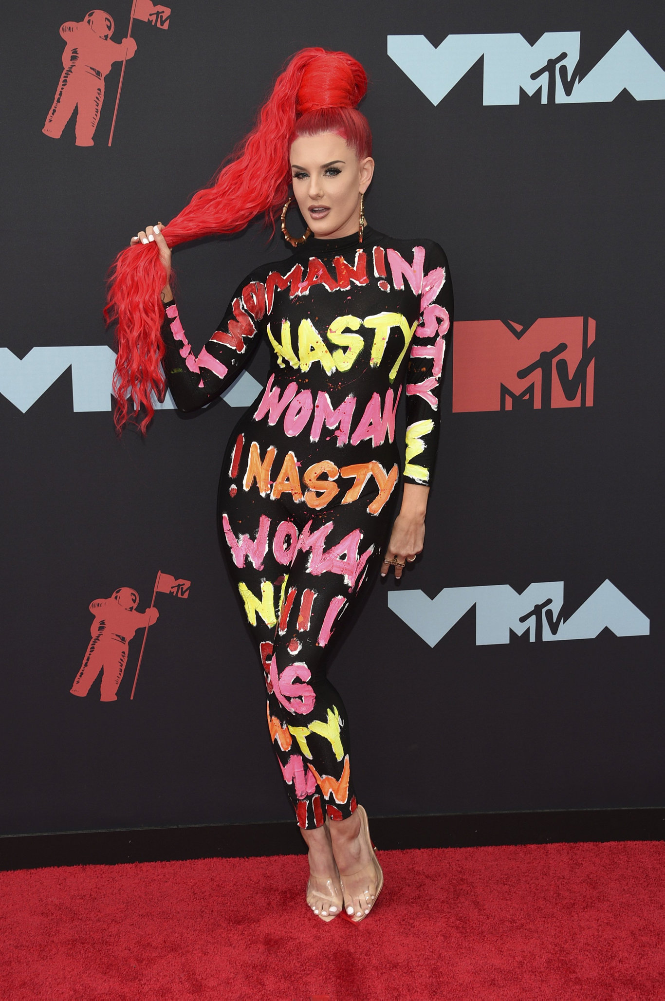 Justina Valentine arrives at the MTV Video Music Awards at the Prudential Center on Monday, Aug. 26, 2019, in Newark, N.J.
