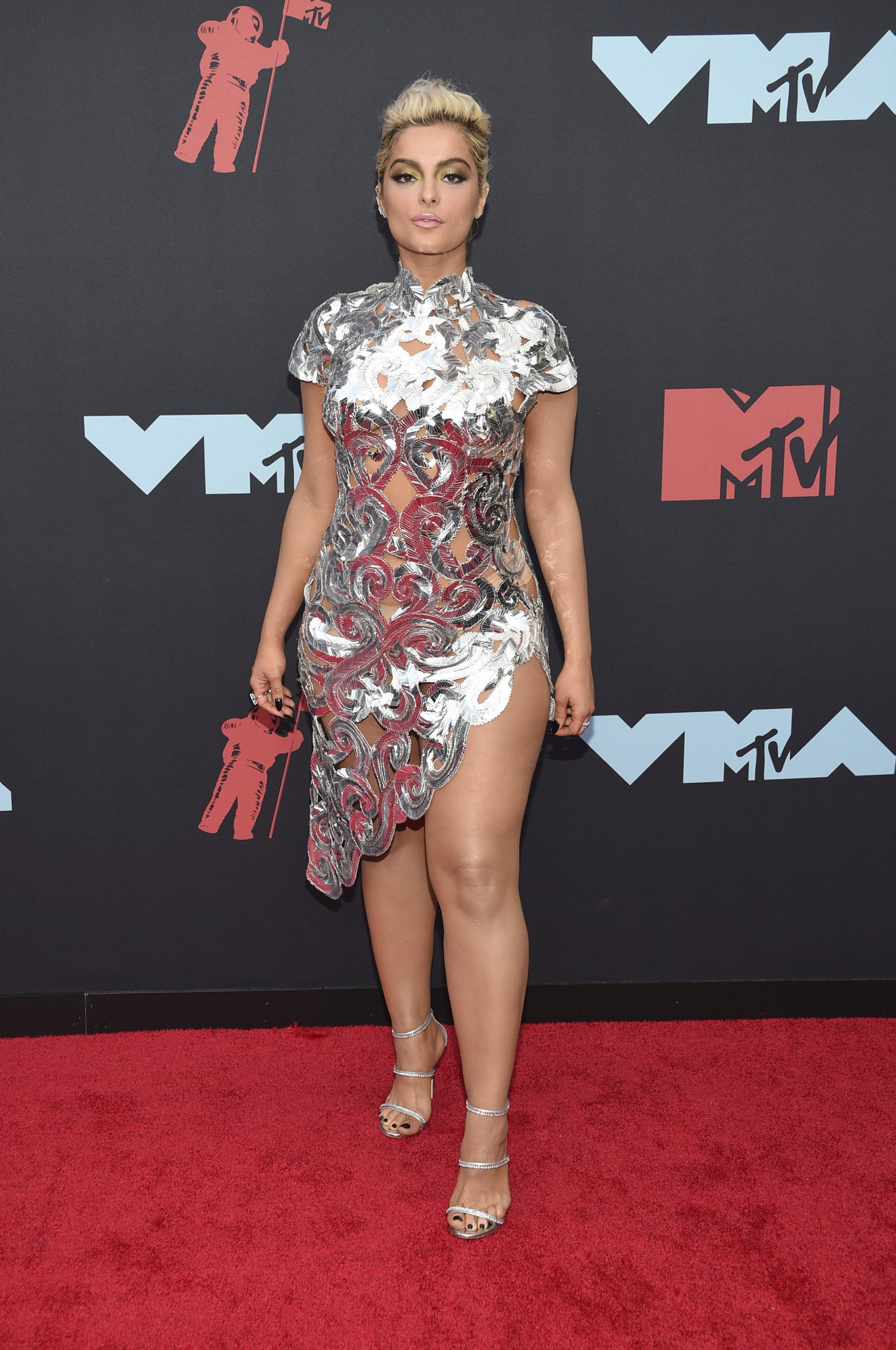 Bebe Rexha arrives at the MTV Video Music Awards at the Prudential Center on Monday, Aug. 26, 2019, in Newark, N.J.