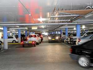 FRIGHTENING: Car becomes airborne in busy CBD carpark