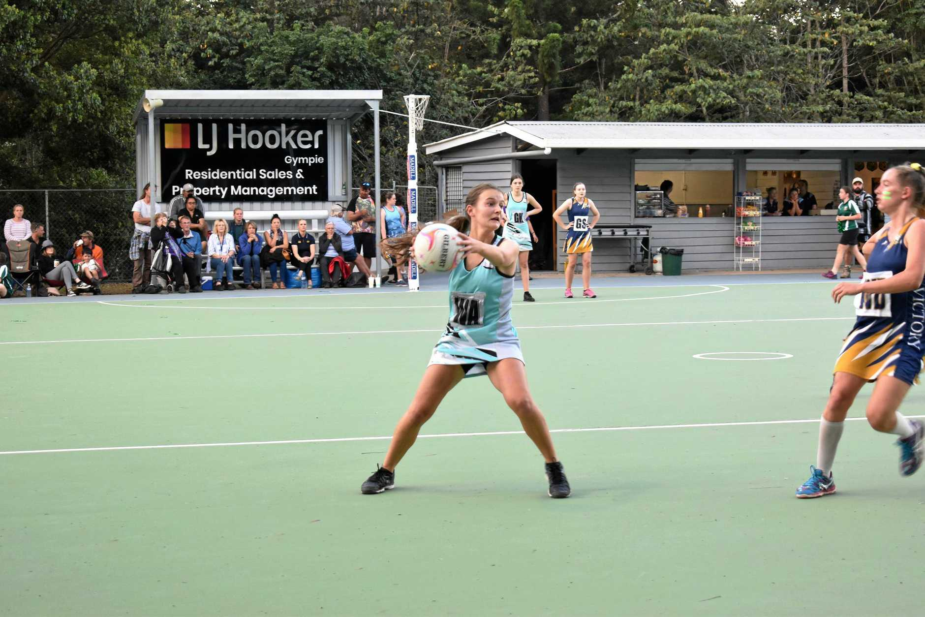 Gympie Junior Netball Grand Finals and Presentation. Maddi Panetta from A Grade Flares.