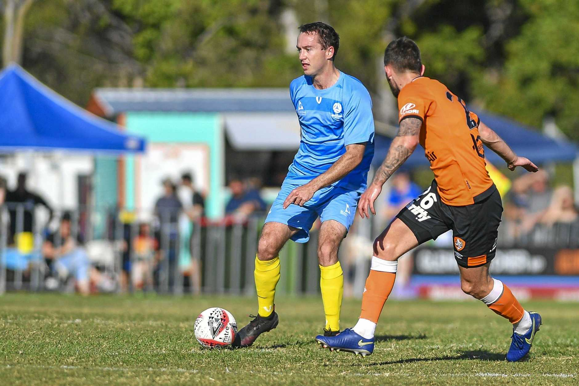 The Brisbane Roar took on a Gladstone Select XI at Marley Brown Oval on Saturday, their third in the leadup to the 2019/20 Hyundai A-League season. PICTURED: Garth Lawrie