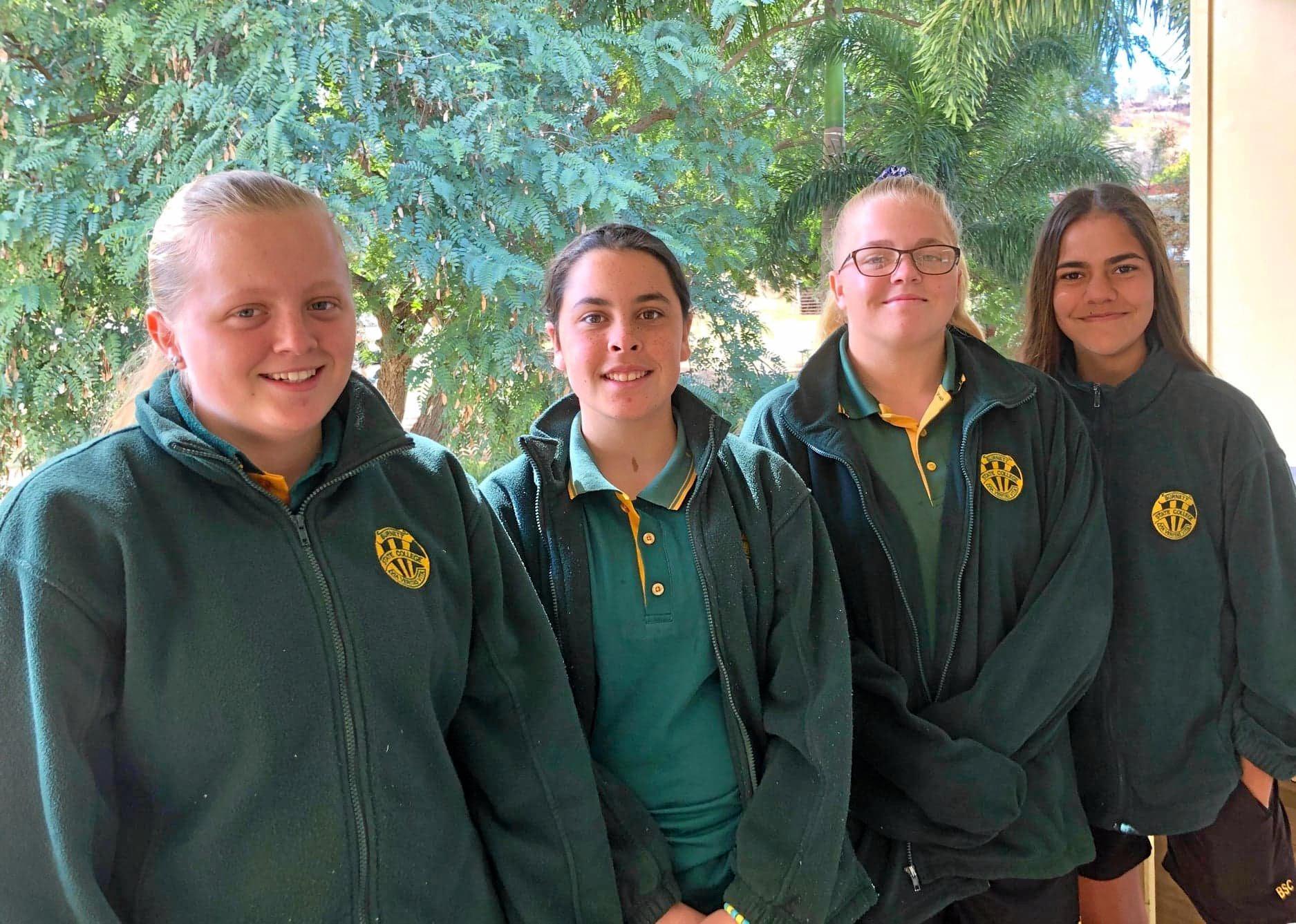 The 'Giunda Girls': Chloe George, Sara Mealand, Emily George and Makailee Appo.