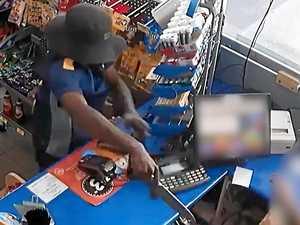 WATCH: Close up footage of servo knife robbery