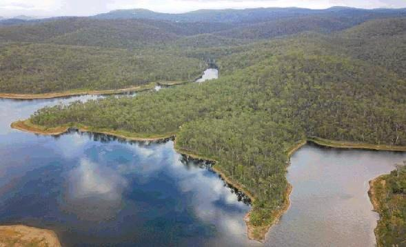 DRY TIMES: The Mount Morgan No.7 dam in fuller times. It is now at 39 per cent.