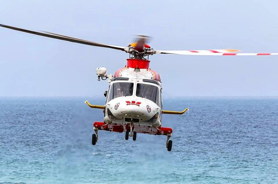 A man has been flown to hospital after an accident in a swimming pool.