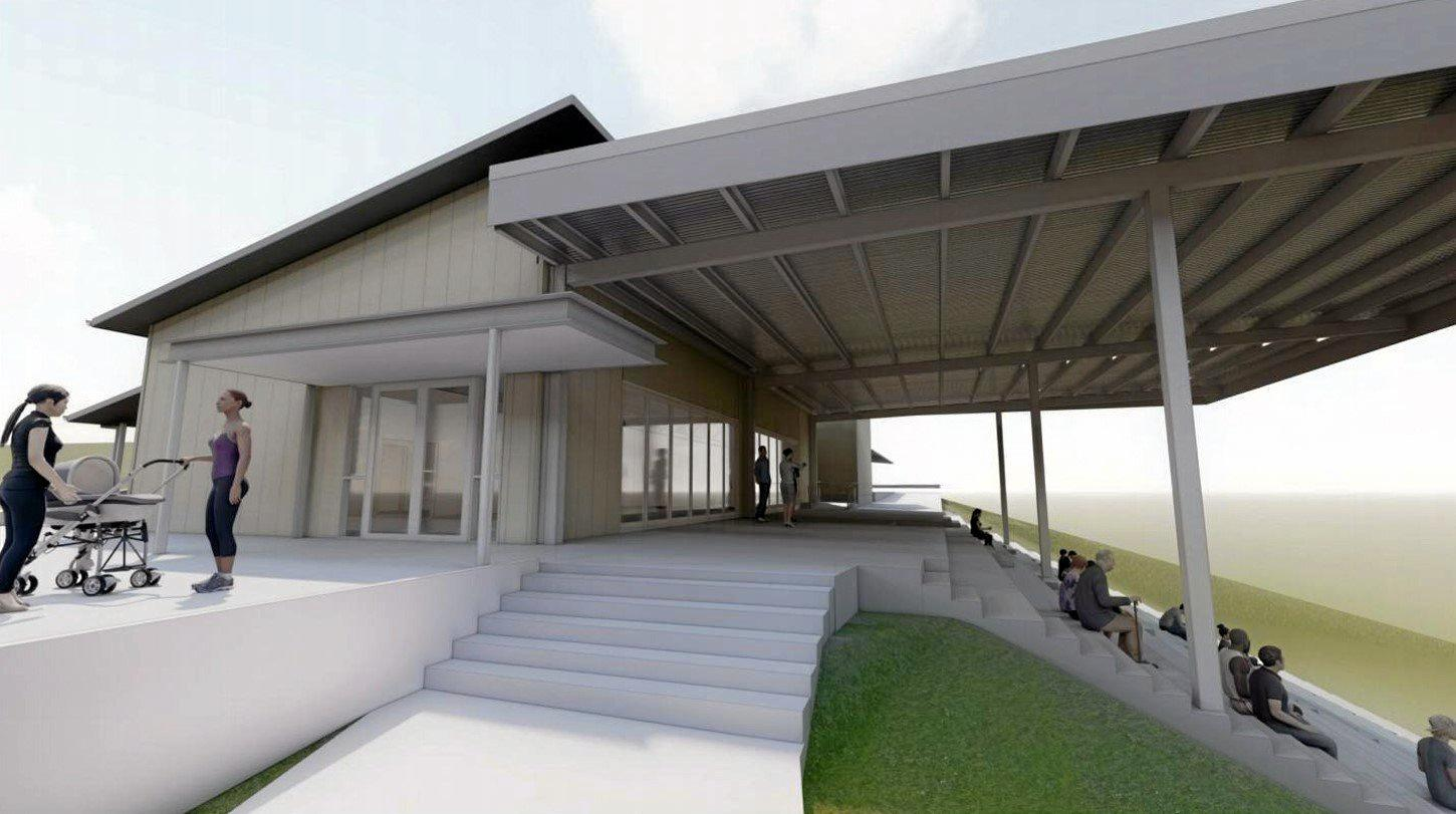 ARTIST'S IMPRESSION:   The concept design of the new Maclean Showground pavilion.