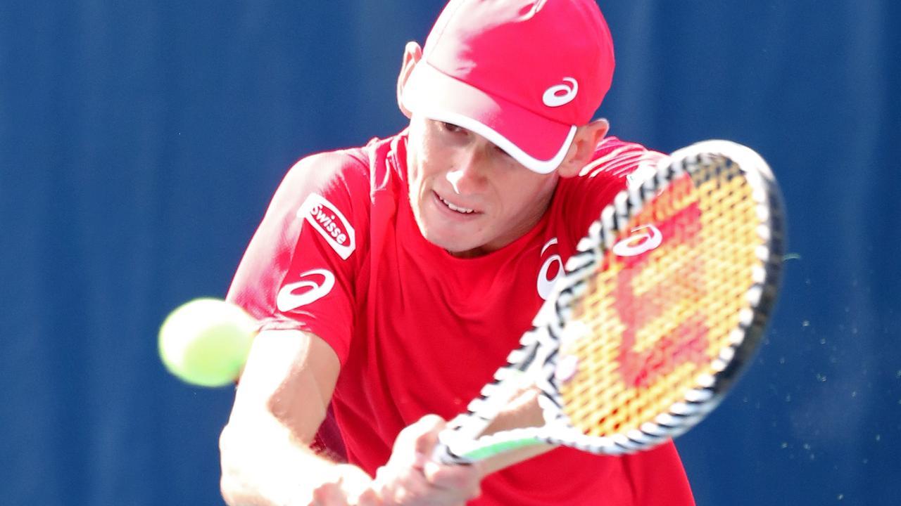 Alex de Minaur saw off a tough first round opponent.