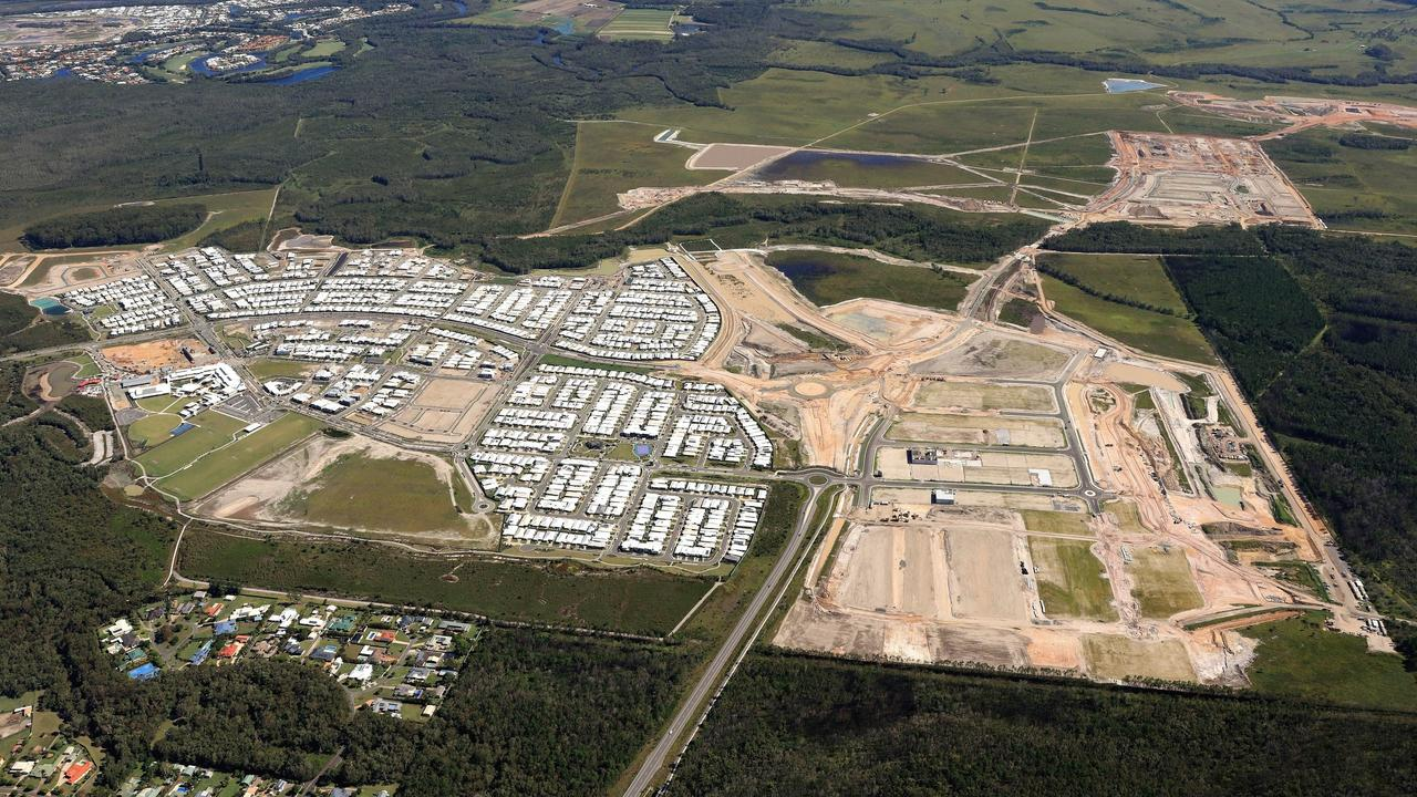 COMING: Stockland's Aura development at Caloundra South is rapidly taking shape.