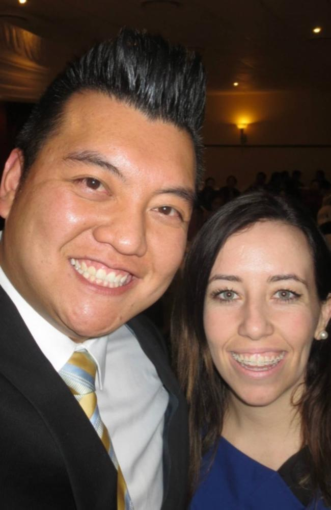 Kenrick Cheah pictured with ALP party boss Kaila Murnain.