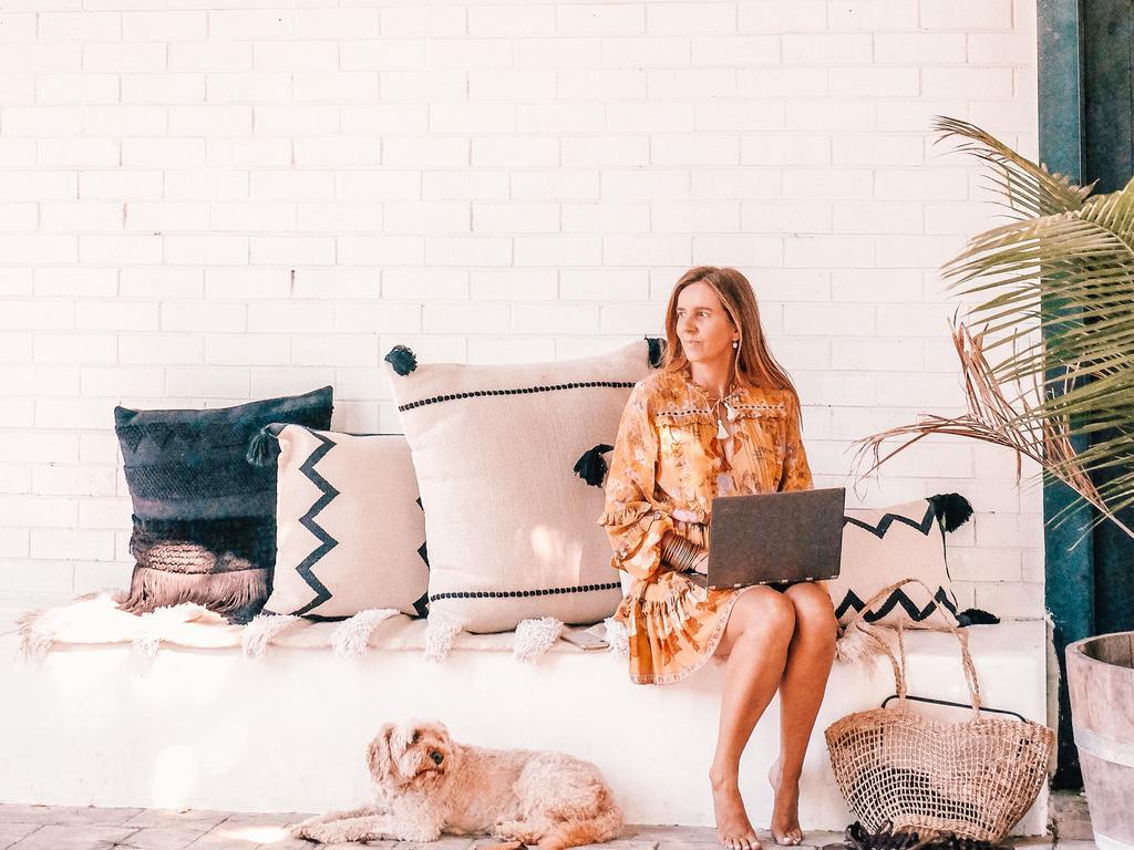 Entrepreneur Lisa Messenger has embraced working from home.